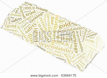 Word Cloud Concept Ore Investment Related