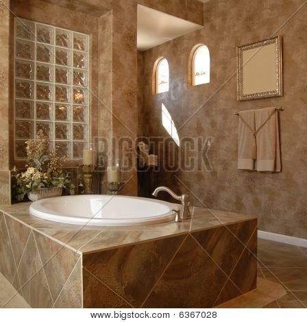 Luxury new modern bathroom