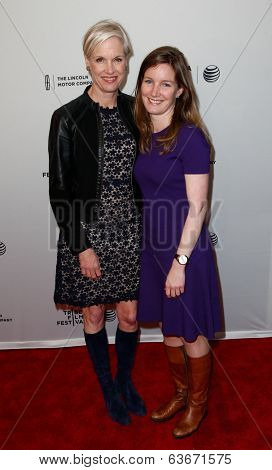 NEW YORK-APR 18: Cecile Richards and daughter Lily Adams attend the