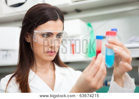 Woman at work in a chemical laboratory