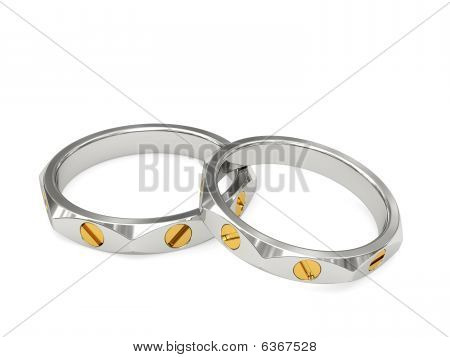 White And Yellow Gold Exclusive Wedding Rings