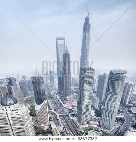View from the Oriental Pearl TV Tower, Shanghai, China