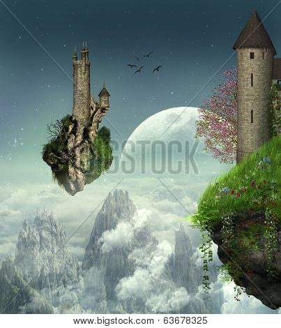 Fantastic castles in the space