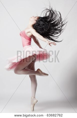 Beautiful female ballet dancer