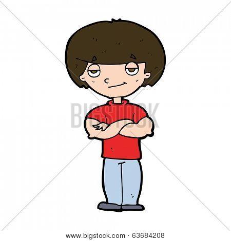 cartoon smug looking man