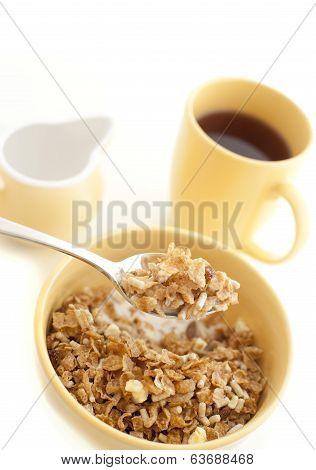 Bowl Of Healthy Muesli For Breakfast