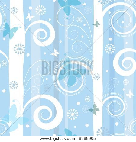 Seamless fantastic christmas pattern (vector)