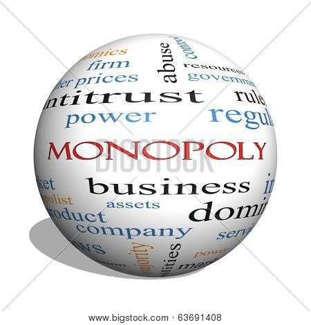 Monopoly 3D Sphere Word Cloud Concept