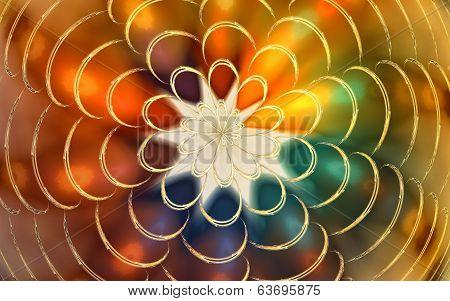 Fractal flower spiral background