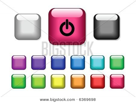 Square buttons collection