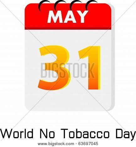 Calender 31 May World No Tobacco Day