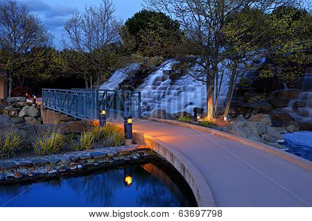 Bollinger Waterfall At Night