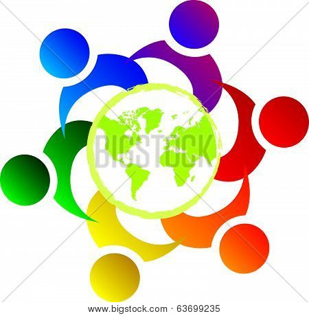 Vector Teamwork Union People World