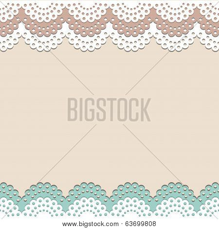 Seamless lace vector background