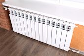 picture of floor heating  - Heating radiator in room - JPG