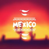 stock photo of mexican  - Ethnic mexican background design in native style - JPG