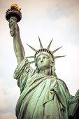 pic of statue liberty  - The Statue of Liberty at New York City - JPG