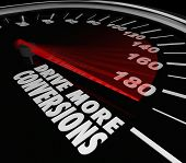 Drive More Conversions Speedometer Selling Advice Increase Sales