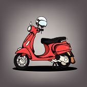 pic of vespa  - The nice Modern Scooter vector design collection - JPG