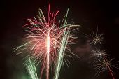picture of firework display  - beautiful fireworks against the dark sky fireworks - JPG