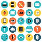 Coding And Programming Flat Icons Set poster