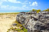 stock photo of playa del carmen  - Caribbean sea scenery in Playacar ( Playa Del Carmen ) Mexico