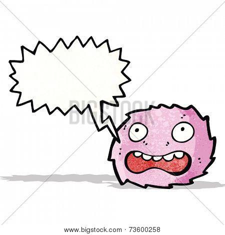 little pink furry monster cartoon
