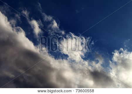Blue Sky With Sunlight Clouds