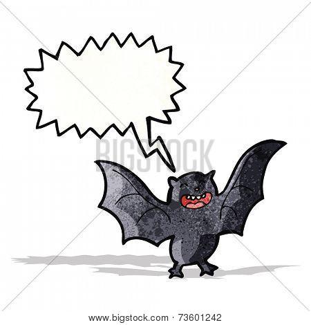 cartoon screeching bat