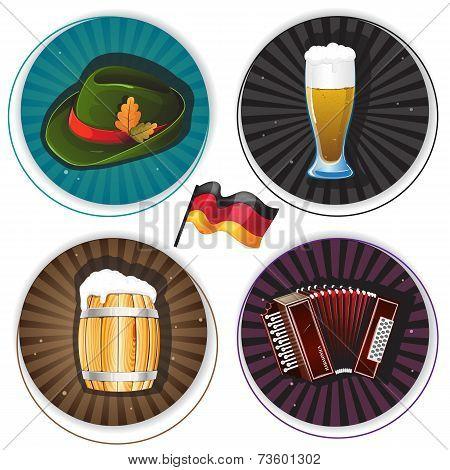 Labels With Oktoberfest Symbols