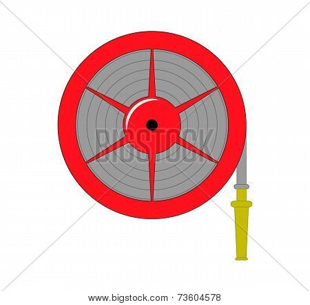 Fire Hose Reel Vector Illustration