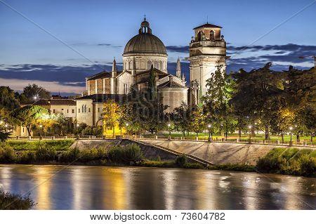 Church San Giorgio In Braida,verona, Italy