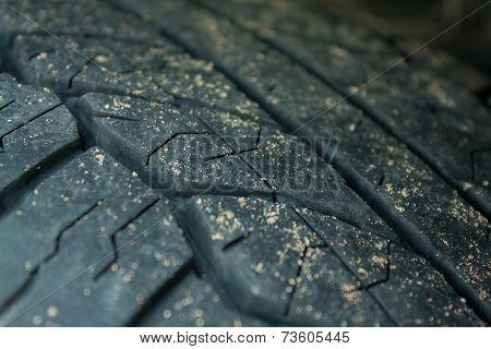 Dirty Wheel On The Car
