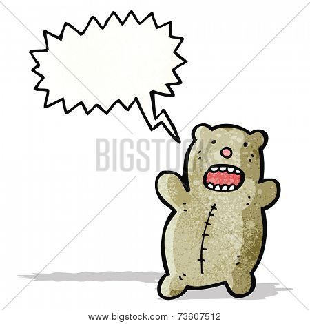 cartoon bear shouting