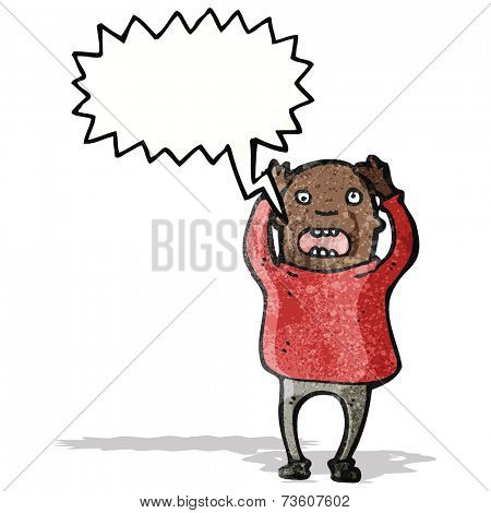 shouting bald man cartoon