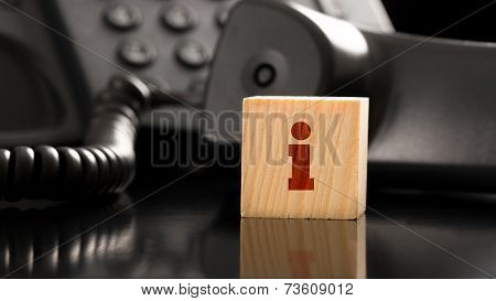 Small Red Letter I On Small Wooden Block