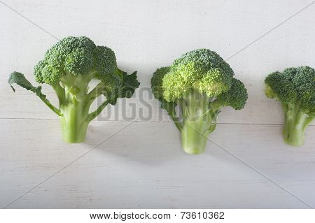 Group Of Brocolies