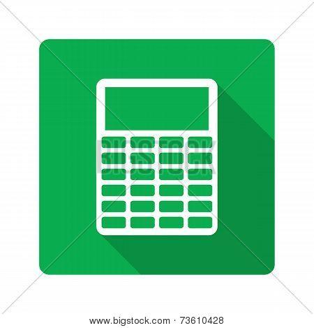 Flat design. Calculator icon