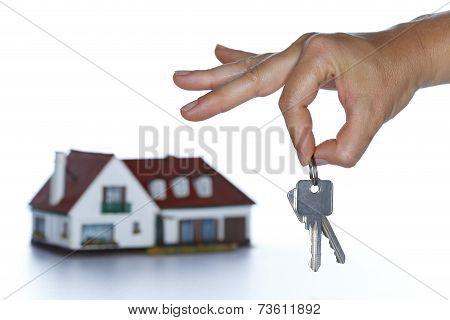 Hand Is Holding Keys