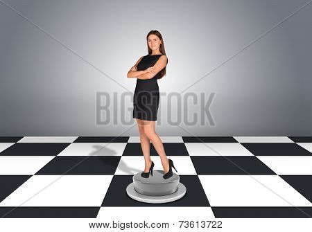 Beautiful businesswoman standing with crossed arms