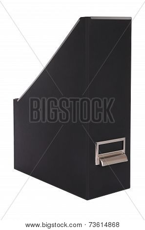 Empty magazine grain paper box on white background.