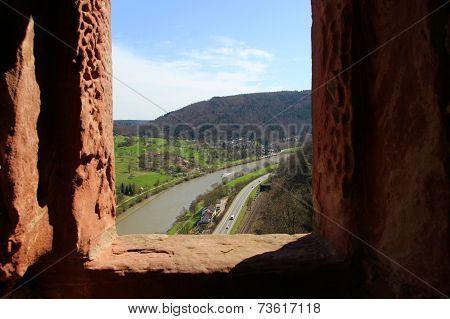 Castle View Of The Neckar River