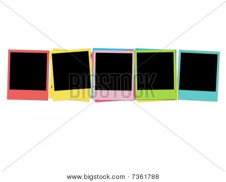 Five Blank Photos in Birthday Colors