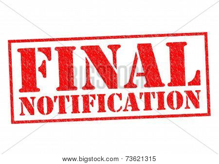 Final Notification