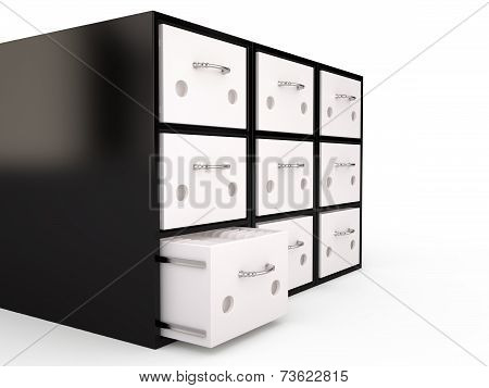 Filing Cabinet, 3D