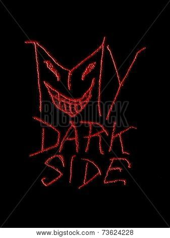 My Dark Side Typographic Design