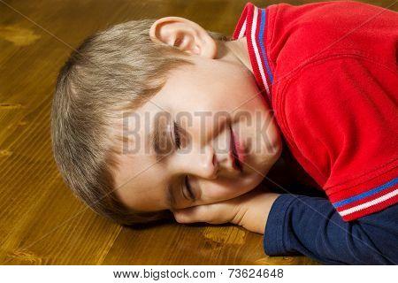 Boy Fell Asleep At The Table