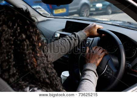 African Woman Driver Honking Her Horn