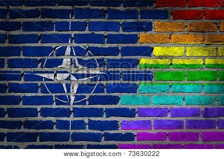 Dark Brick Wall - Lgbt Rights - Nato