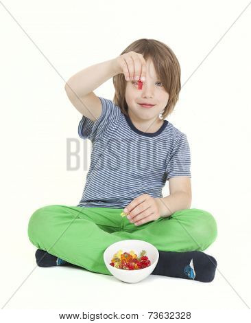 Boy With Wine Gums